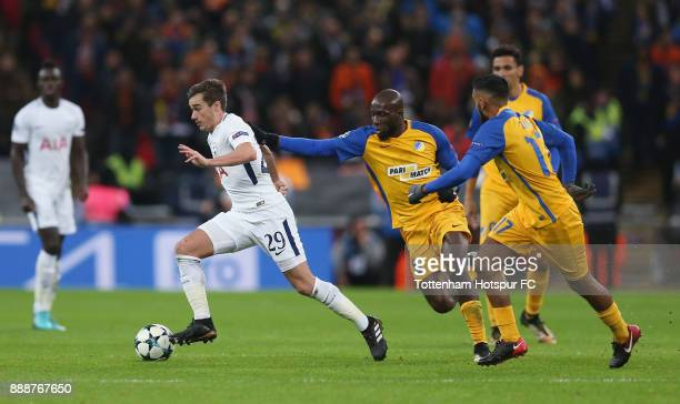 Harry Winks of Tottenham Hotspur in action during the UEFA Champions League group H match between Tottenham Hotspur and APOEL Nikosia at Wembley...