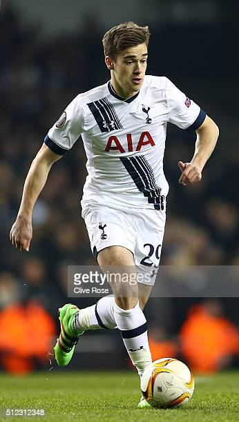 Harry Winks of Tottenham Hotspur in action during the UEFA Europa League round of 32 second leg match between Tottenham Hotspur and Fiorentina at...