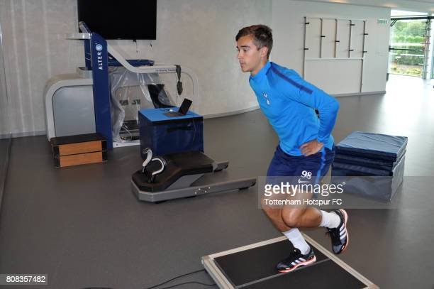 Harry Winks of Tottenham Hotspur returns to training at Tottenham Hotspur Football Club Training Ground on July 3 2017 in Enfield England