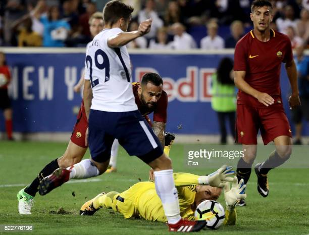 Harry Winks of Tottenham Hotspur scores in the second half as Lukasz Skorupski of Roma is unable to stop the shot during the International Champions...