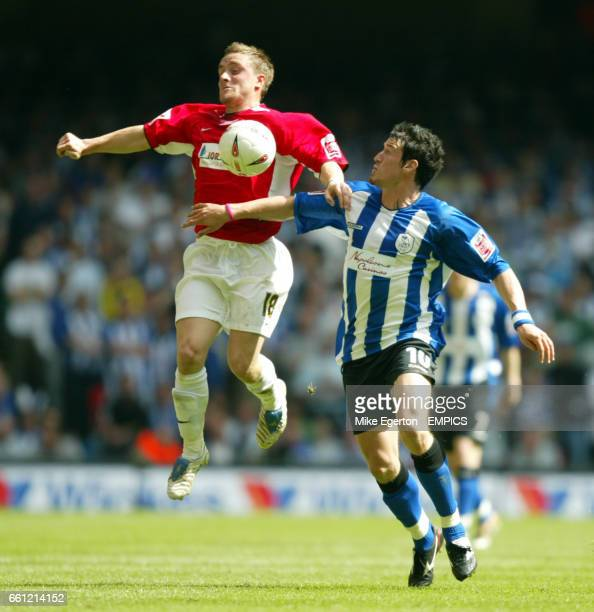 Hartlepool United's Matty Robson and Sheffield Wednesday's Lee Peacock