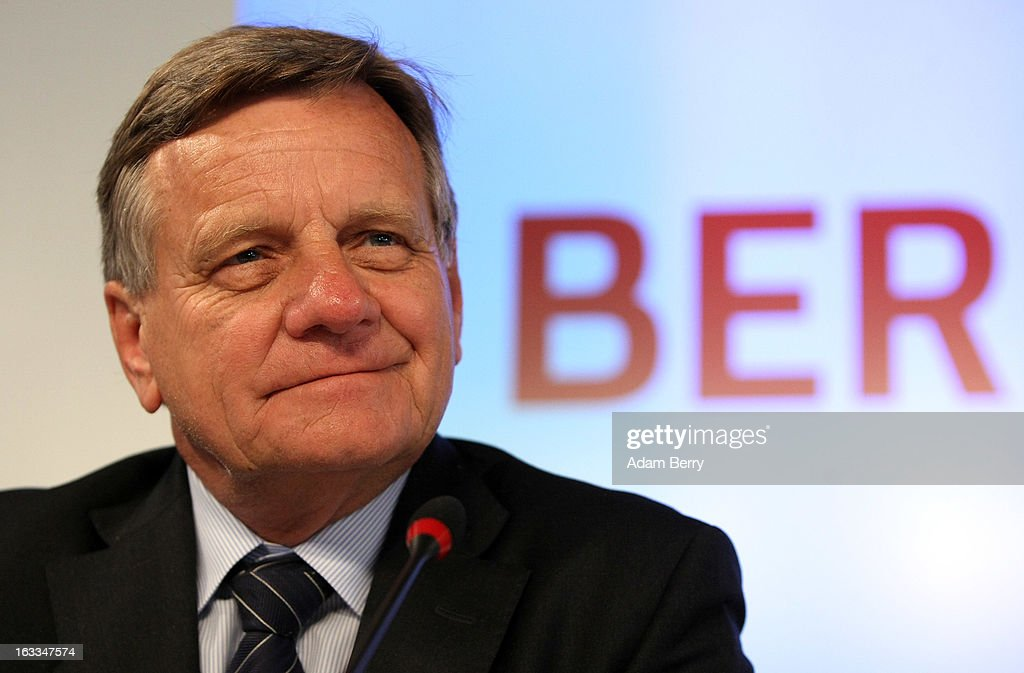 Hartmut Mehdorn, former chief executive of Air Berlin and Deutsche Bahn, pauses at a news conference on March 8, 2013 in Berlin, Germany. Mehdorn was appointed head of the management board of the city's new airport, Berlin Brandenburg International (BER), which has been plagued with delays in its opening over the past year and a half. The position has been unoccupied since January, when Rainer Schwarz stepped down from it after it was announced that the new airport's opening would be postponed for a fourth time until at least 2014.