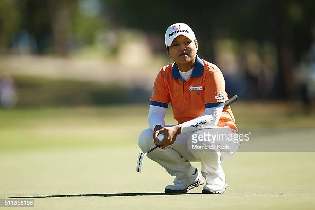Haru Nomura of Japan looks on during day three of the ISPS Handa Women's Australian Open at The Grange GC on February 20 2016 in Adelaide Australia