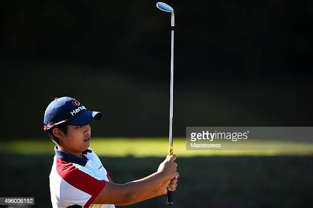 Haru Nomura of Japan looks on during the first round of the TOTO Japan Classics 2015 at the Kintetsu Kashikojima Country Club on November 6 2015 in...
