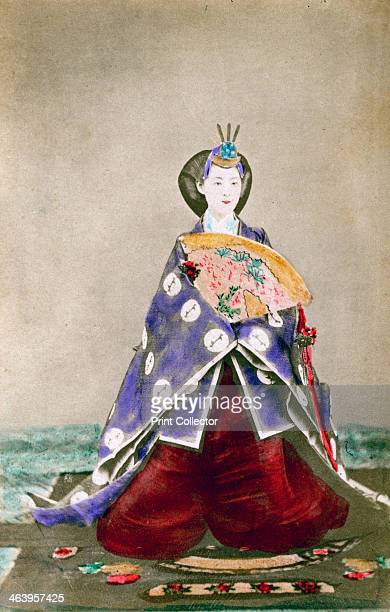 Haruho Empress of Japan 1873 The wife of the Emperor Meiji Emperor of Japan from 1867 pictured in full court dress A pioneer of Japanese photography...