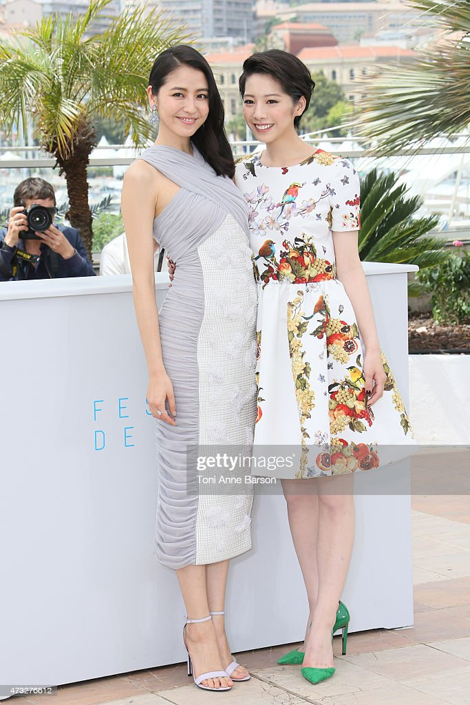 <a gi-track='captionPersonalityLinkClicked' href=/galleries/search?phrase=Haruka+Ayase&family=editorial&specificpeople=4451163 ng-click='$event.stopPropagation()'>Haruka Ayase</a> and <a gi-track='captionPersonalityLinkClicked' href=/galleries/search?phrase=Kaho+-+Actress&family=editorial&specificpeople=5558154 ng-click='$event.stopPropagation()'>Kaho</a> attends the 'Notre Petite Soeur' ('Our Little Sister') photocall during the 68th annual Cannes Film Festival on May 14, 2015 in Cannes, France.