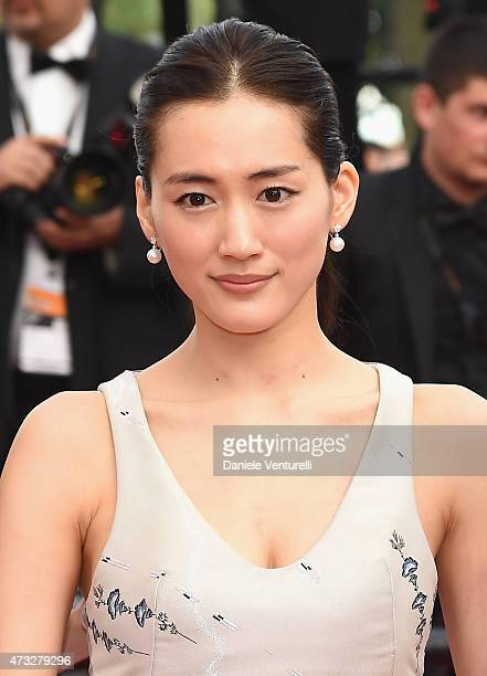 Haruka Ayase attends the 'Umimachi Diary' Premiere during the 68th annual Cannes Film Festival on May 14 2015 in Cannes France