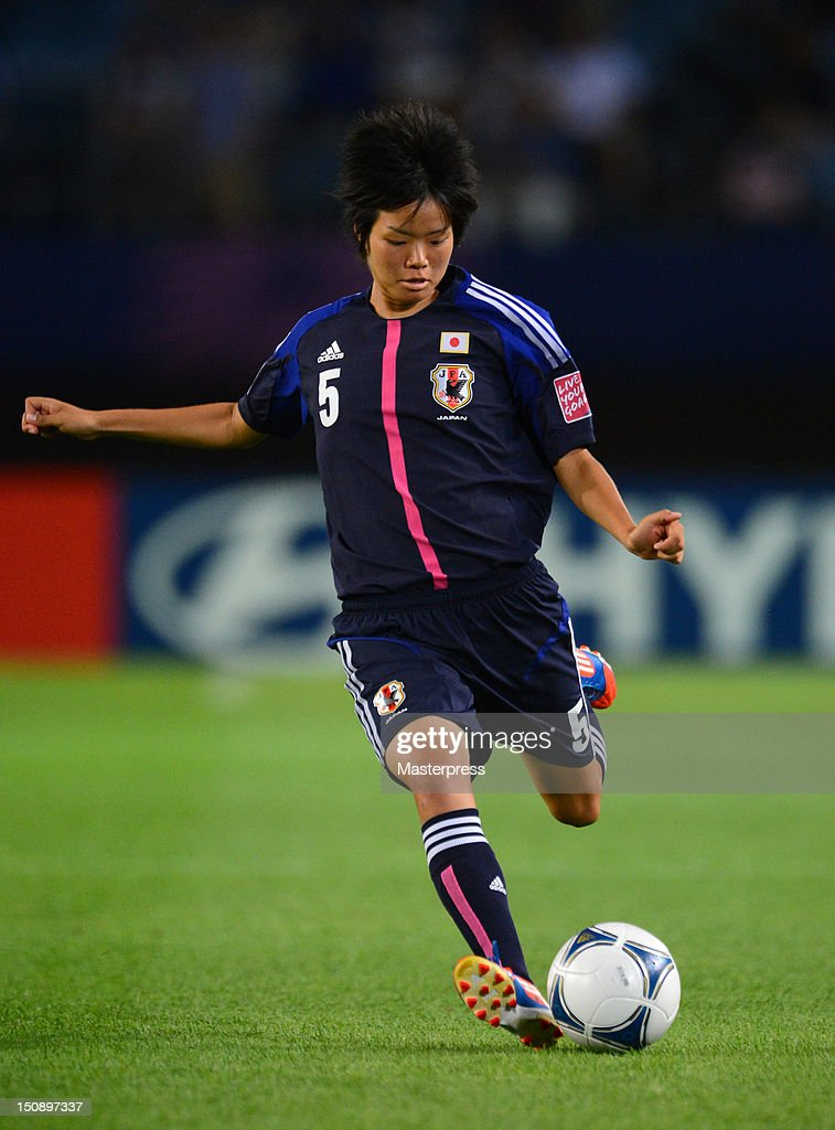 <a gi-track='captionPersonalityLinkClicked' href=/galleries/search?phrase=Haruka+Hamada&family=editorial&specificpeople=7186884 ng-click='$event.stopPropagation()'>Haruka Hamada</a> of Japan in action during the FIFA U-20 Women's World Cup Group A match between Japan and Mexico at Miyagi Stadium on August 19, 2012 in Rifu, Miyagi, Japan.