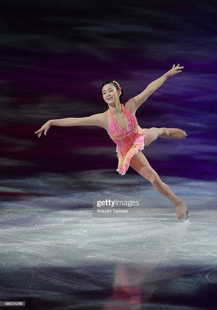 Haruka Imai of Japan performs her routine in the Gala exhibition during All Japan Figure Skating Championships at Saitama Super Arena on December 24, 2013 in Saitama, Japan.