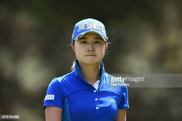 Haruka Morita of Japan on the 17th fairway during the first round of the World Ladies Championship Salonpas Cup at the Ibaraki Golf Club on May 4...