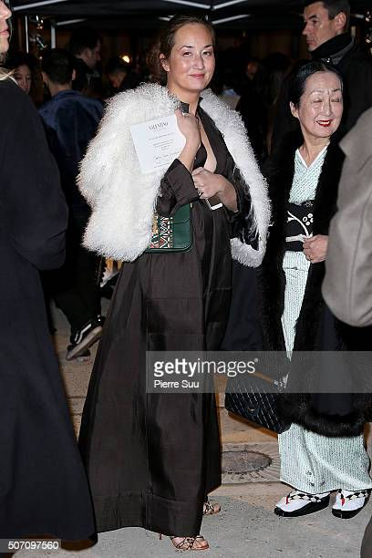 Harumi Balthus arrives at the Valentino Haute Couture Spring Summer 2016 show as part of Paris Fashion Week on January 27 2016 in Paris France