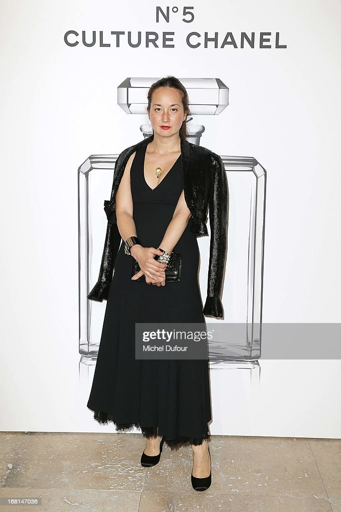 Harumi Klossowska attends the 'No5 Culture Chanel' Exhibition - Photocall at Palais De Tokyo on May 3, 2013 in Paris, France.