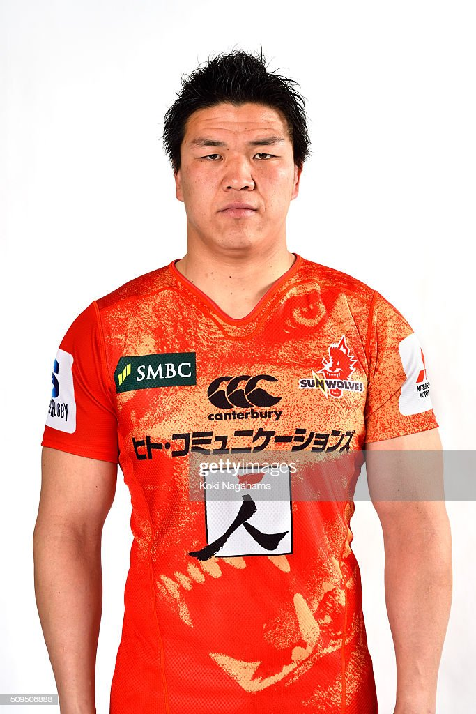 <a gi-track='captionPersonalityLinkClicked' href=/galleries/search?phrase=Harumichi+Tatekawa&family=editorial&specificpeople=5908049 ng-click='$event.stopPropagation()'>Harumichi Tatekawa</a> poses during the Sunwolves 2016 Super Rugby headshots session on February 11, 2016 in Tokyo, Japan.