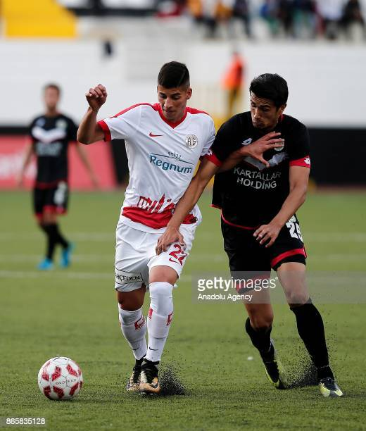Harun Alpsoy of Antalyaspor in action during the 4th round of the Ziraat Turkish Cup soccer match between Etimesgut Belediyespor and Antalyaspor at...