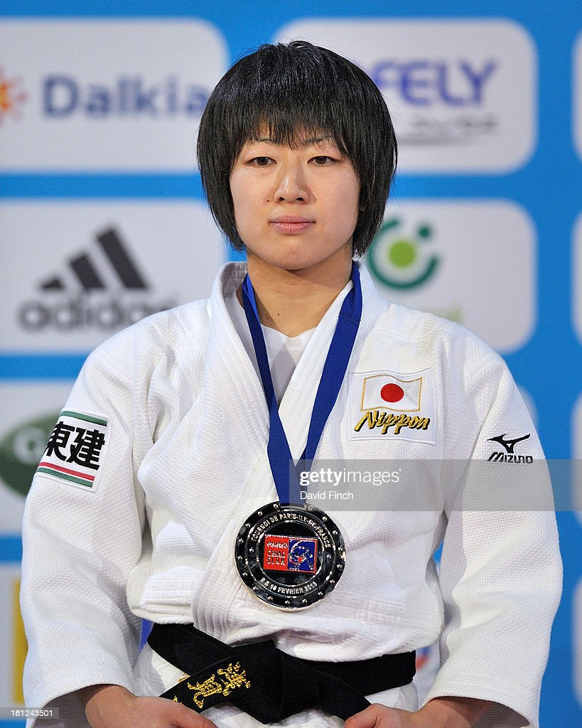 Haruna Asami of Japan was presented with the u48kgs gold medal during the Paris Grand Slam on day 1 February 09, 2013 at the Palais Omnisports de Paris, Bercy, Paris, France.