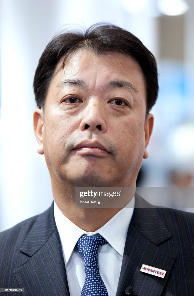 Haruo Matsuno, president of Advantest Corp., attends an interview in Chiba, Japan, on Friday, Dec. 7, 2012. Advantest Corp. is the world's biggest maker of memory-chip testers. Photographer: Tomohiro Ohsumi/Bloomberg via Getty Images