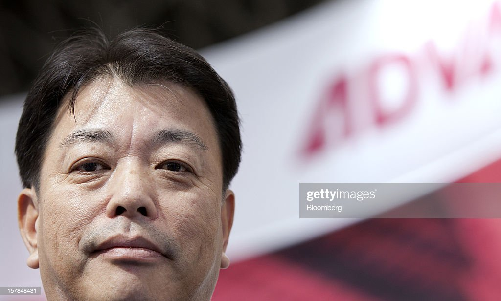Haruo Matsuno, president of Advantest Corp., poses for a photograph after an interview in Chiba, Japan, on Friday, Dec. 7, 2012. Advantest Corp. is the world's biggest maker of memory-chip testers. Photographer: Tomohiro Ohsumi/Bloomberg via Getty Images