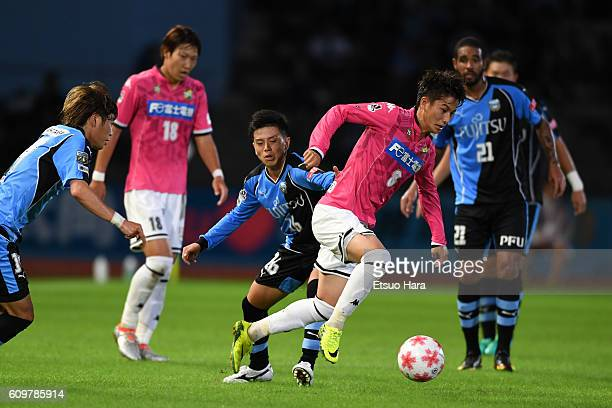 Haruya Ide of JEF United Chiba#8 in action during the Emperor's Cup third round match between Kawasaki Frontale and JEF United Chiba at Todoroki...