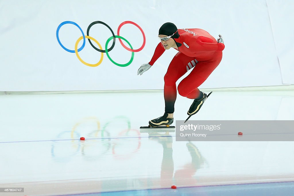Harvard Bokko of Norway comeptes during the Men's 5000m Speed Skating event during day 1 of the Sochi 2014 Winter Olympics at Adler Arena Skating Center on February 8, 2014 in Sochi, Russia.