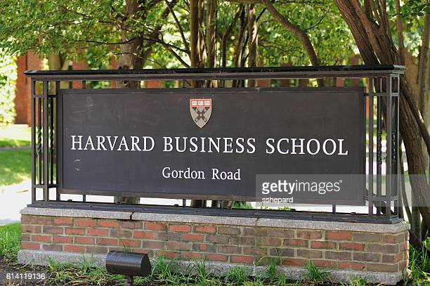 Harvard Business School Gordon Road sign