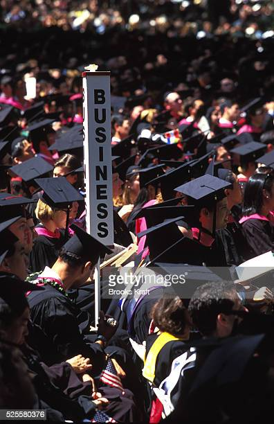 Harvard Business School students attend their graduation in Boston It is one of the graduate schools of Harvard University and is one of the world's...