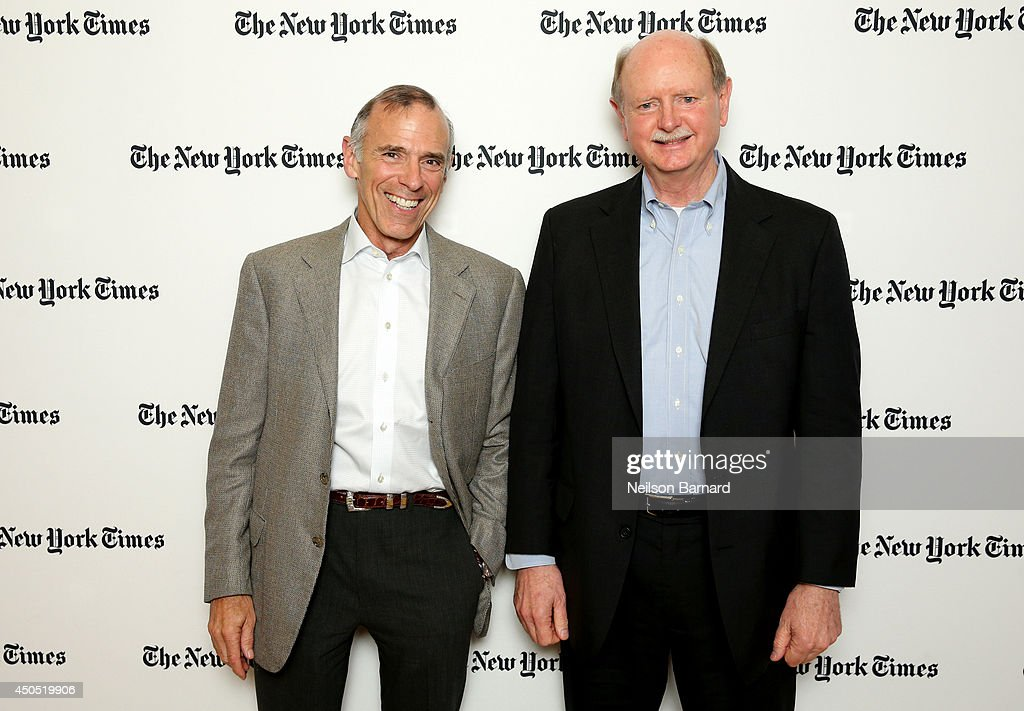 Harvard Innovation Lab Expert in Residence Tony Wagner (L) and Olin College President and Professor of Mechanical Engineering Richard Miller attend The New York Times Next New World Conference on June 12, 2014 in San Francisco, California.