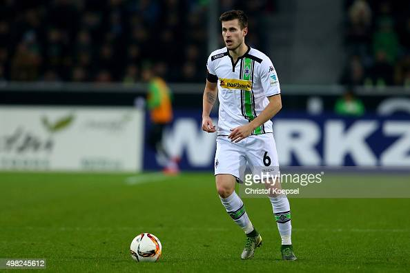 Harvard Nordtveit of Moenchengladbach runs with the ball during the Bundesliga match between Borussia Moenchengladbach and Hannover 96 at...