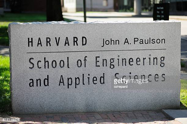 Harvard School of Engineering and Applied Science sign