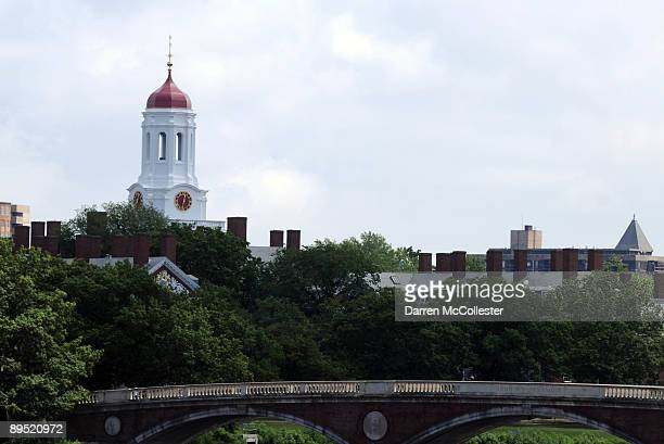 Harvard University footbridge is seen July 30 2009 Cambridge Massachusetts Harvard Square is a large triangular area located in the heart of...