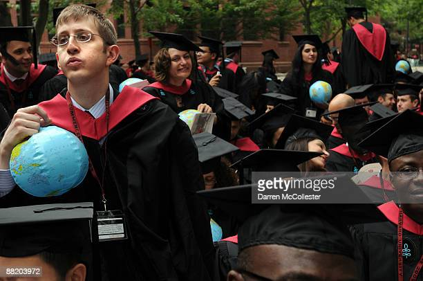 Harvard University student Eli Rosenbaum attends commencement ceremonies June 4 2009 in Harvard Yard in Cambridge Massachusetts Founded in 1636 this...
