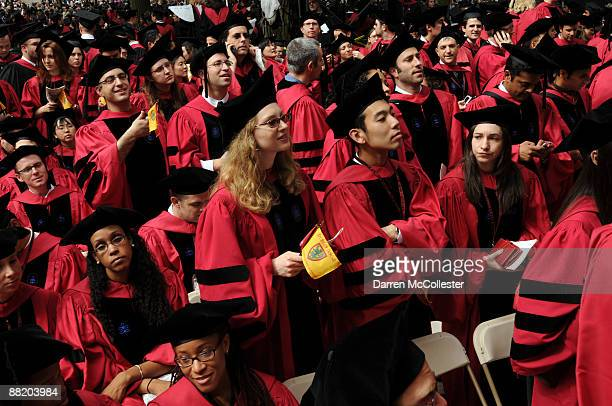 Harvard University students attend commencement ceremonies June 4 2009 in Harvard Yard in Cambridge Massachusetts Founded in 1636 this year marks the...