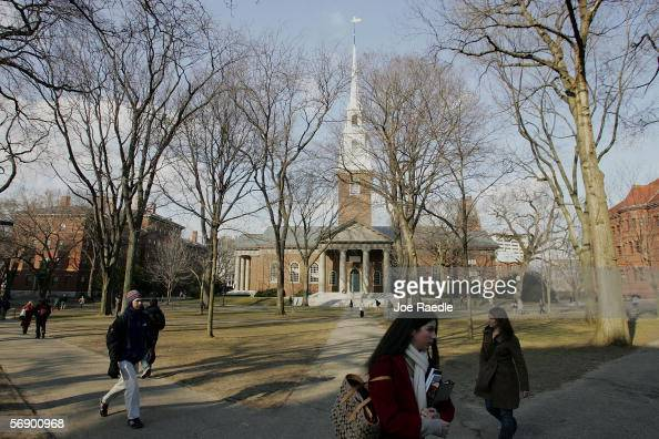 Harvard University walk through the campus on the day Harvard University president Lawrence H Summers announced he is resigning at the end of the...
