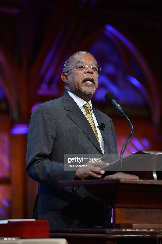 Harvard University's <a gi-track='captionPersonalityLinkClicked' href=/galleries/search?phrase=Henry+Louis+Gates+Jr.&family=editorial&specificpeople=2492935 ng-click='$event.stopPropagation()'>Henry Louis Gates Jr.</a> presides at the 2013 W.E.B. Du Bois Medal at a ceremony at Harvard University's Sanders Theatre on October 2, 2013 in Cambridge, Massachusetts.