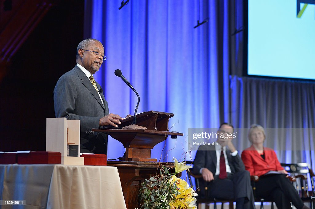 Harvard University's Henry Louis Gates Jr. presides at the 2013 W.E.B. Du Bois Medal at a ceremony at Harvard University's Sanders Theatre on October 2, 2013 in Cambridge, Massachusetts.