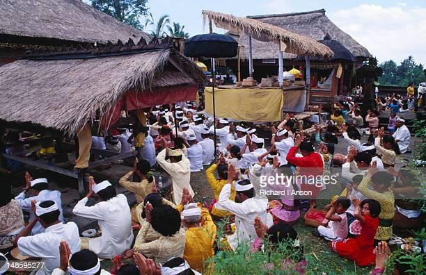 Harvest festival at temple in Pejeng near Ubud.