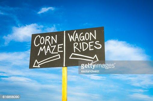 Harvest festival sign : Stock Photo