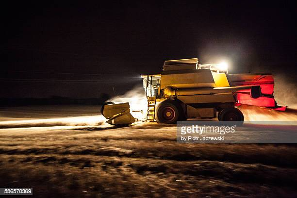 Harvesting at night
