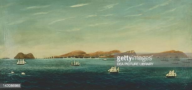 Harvesting guano on Chincha Island Peru 19th century