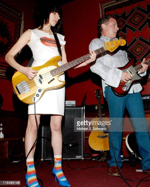 PJ Harvey and Moris Tepper during Moris Tepper with PJ Harvey Perform at The Tangiers Restaurant in Los Angeles January 27 2006 at The Tangiers...