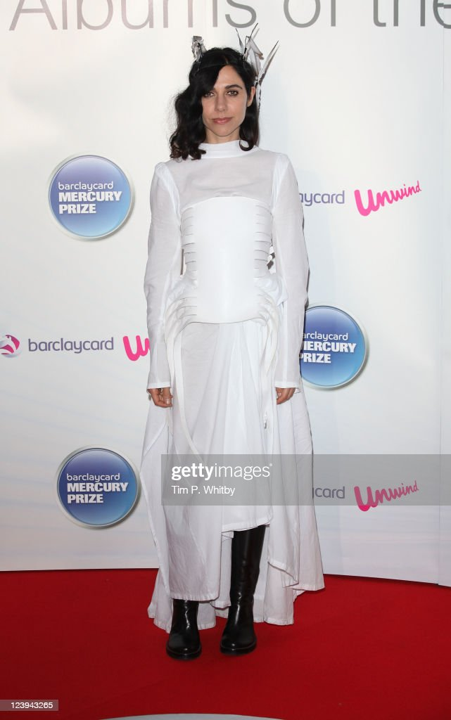 PJ Harvey attends the Barclaycard Mercury Prize at Grosvenor House, on September 6, 2011 in London, England.