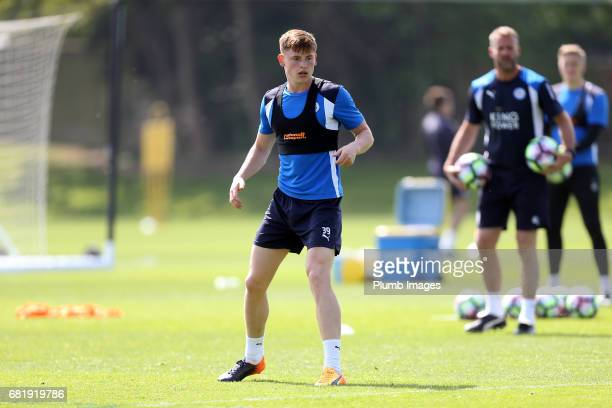 Harvey Barnes during the Leicester City training session at Belvoir Drive Training Complex on May 11 2017 in Leicester United Kingdom