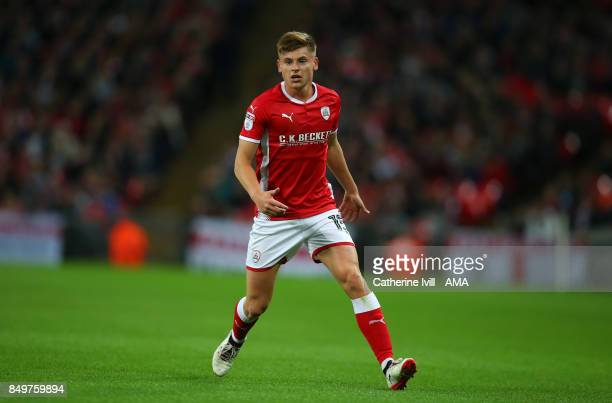 Harvey Barnes of Barnsley during the Carabao Cup Third Round match between Tottenham Hotspur and Barnsley at Wembley Stadium on September 19 2017 in...