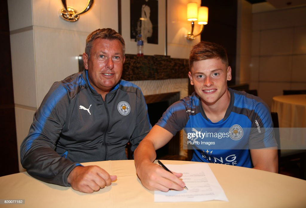 Harvey Barnes signs new contract for Leicester City FC during their pre-season tour of Hong Kong on July 21st , 2017 in Hong Kong, Hong Kong.