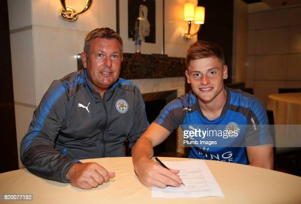 Harvey Barnes signs new contract for Leicester City FC during their preseason tour of Hong Kong on July 21st 2017 in Hong Kong Hong Kong