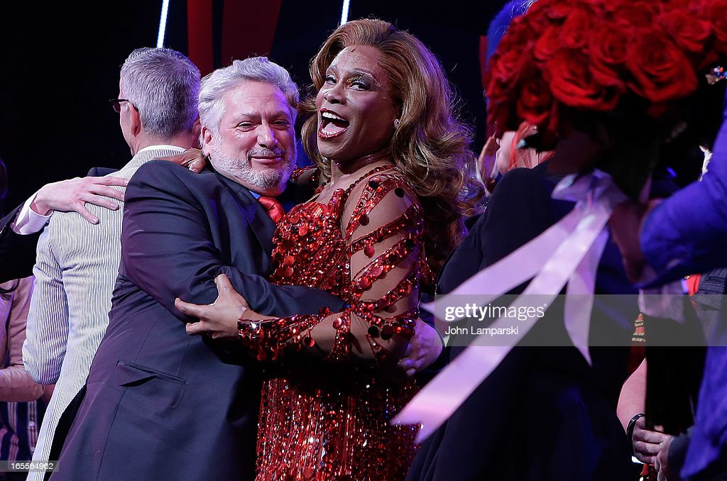 <a gi-track='captionPersonalityLinkClicked' href=/galleries/search?phrase=Harvey+Fierstein&family=editorial&specificpeople=206751 ng-click='$event.stopPropagation()'>Harvey Fierstein</a> and <a gi-track='captionPersonalityLinkClicked' href=/galleries/search?phrase=Billy+Porter&family=editorial&specificpeople=787592 ng-click='$event.stopPropagation()'>Billy Porter</a> attend the 'Kinky Boots' Broadway Opening Night at the Al Hirschfeld Theatre on April 4, 2013 in New York City.