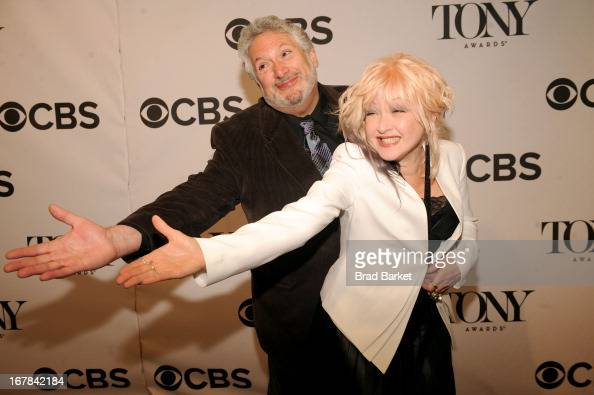 Harvey Fierstein and Cyndi Lauper attend the 2013 Tony Awards Meet The Nominees Press Reception on May 1 2013 in New York City