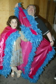 Harvey Fierstein and Marissa Jaret Winokur stars of Hairspray