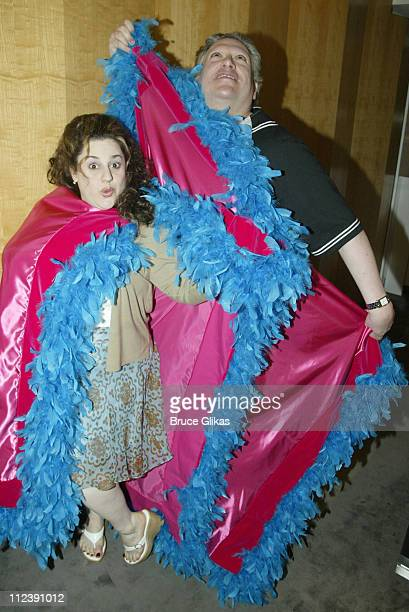 Harvey Fierstein and Marissa Jaret Winokur stars of Hairspray