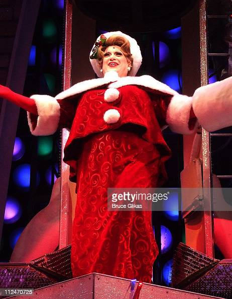 Harvey Fierstein gives his 'Mrs Claus meets Edna Turnblad' tribute to Christmas during The Christmas performance of 'Hairspray' on Broadway at The...