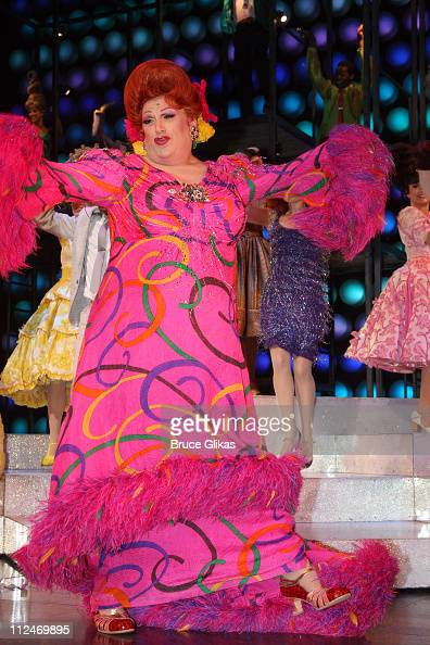 Harvey Fierstein in the hit musical 'Hairspray' on Broadway at the Neil Simon Theatre on December 10 2008 in New York City